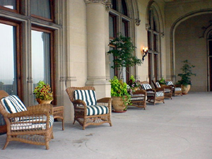 Veranda at Biltmore Castle