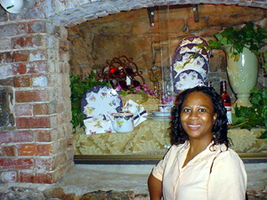 Vanessa Davis Griggs at Biltmore Estates cellar