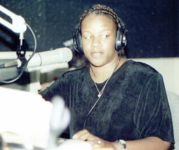 Freda Lucas on the air...